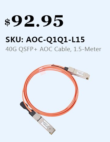 40GBASE QSFP+ AOC Cable, 1.5-Meter (MMF)