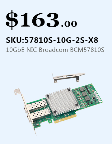 Dual SFP+ Ports 10GbE Ethernet CNA/NIC Broadcom BCM57810S