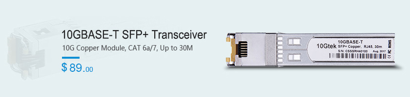 10GBASE-T SFP +Transceiver