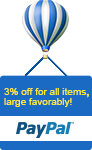 3% off all items, large favorably!
