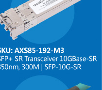 SFP +Transceiver 10GBase-SR 850nm,300M |  SFP-10G-SR