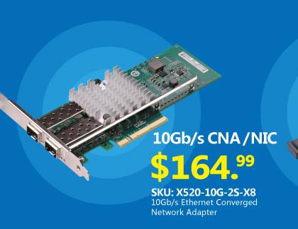 10Gb / s以太网聚合网络适配器,兼容Intel X520-DA2