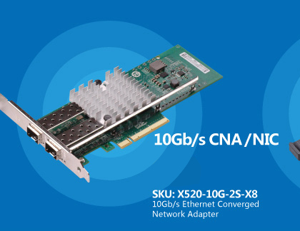 10Gb / s CNA / NICEthernet Converged Network Adapter X520-DA2