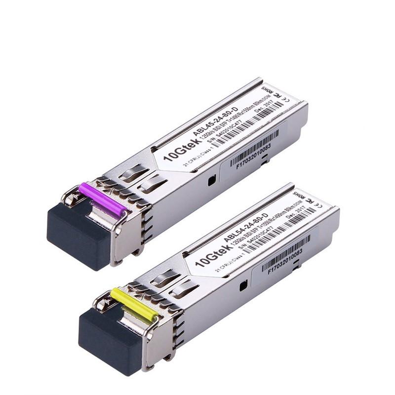 A Pair of 1.25G SFP BiDi Transceivers, up to 80 km