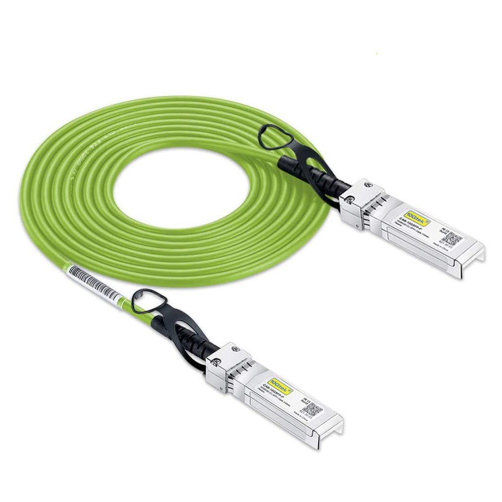 SFP- DAC Twinax Cable- SFP- Direct Attach Copper Cable- 0-5-3 meter- Green- Passive- 30AWG