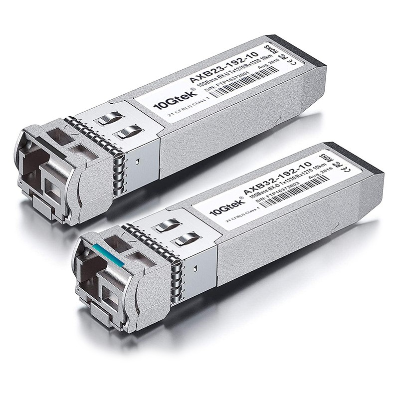 A Pair of 10G SFP+ BiDi Transceivers, up to 10 km