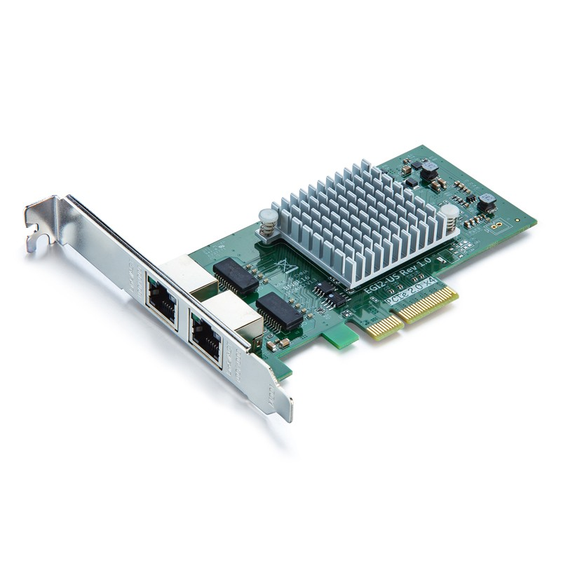 1.25G Network Card, Dual RJ45 port, X4 Lane, Intel I350-T2 equivalent