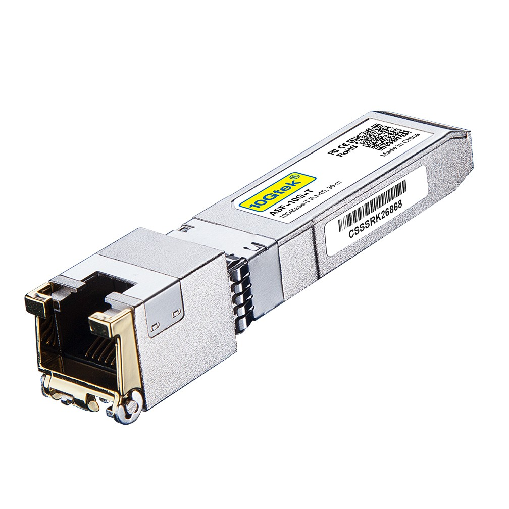10GBase-T SFP+ Transceiver, 10G T, 10G Copper, RJ-45 SFP+ CAT.6a up to 30 meters Compatible for Cisco