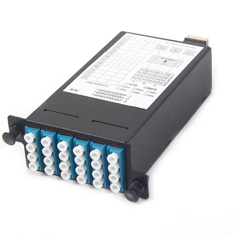 24 Core MPO Box, 3 ports MPO to 3x 8 ports LC connectors, SMF