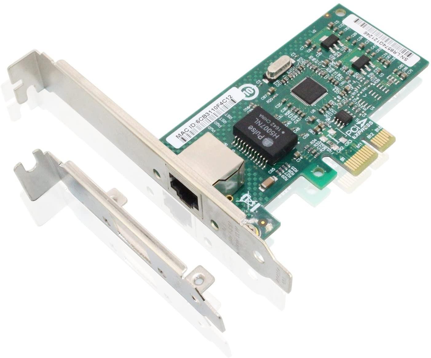 1.25G Network Card, Single RJ45 port, X1 Lane, Intel 82574L