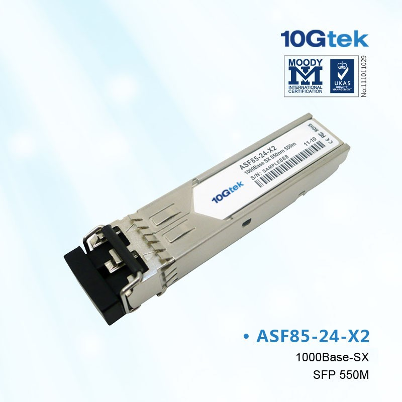 For Cisco, GLC-SX-MM, 1000BASE-SX SFP transceiver module for MMF, 850-nm wavelength,commercial operating temperature range.
