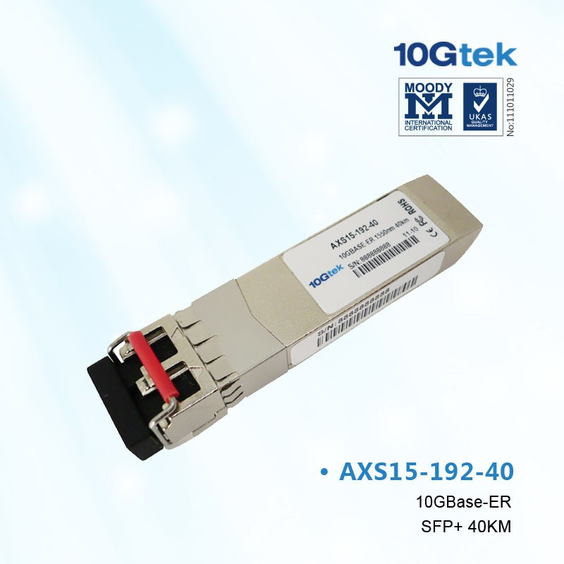 For Extreme, 10309,  compatible 10 Gigabit Ethernet SFP+ module, 1550nm, SMF 40km link, LC connector