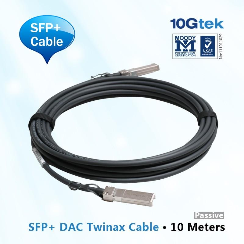 For Extreme , 10307, compatible 10 Gigabit Ethernet SFP+ passive cable assembly, Extreme compatible 10m length
