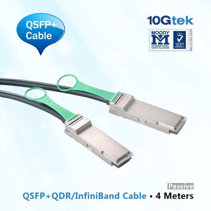 40GbE QSFP+ Copper Cable, 4-Meter, AWG 28, Passive, QDR