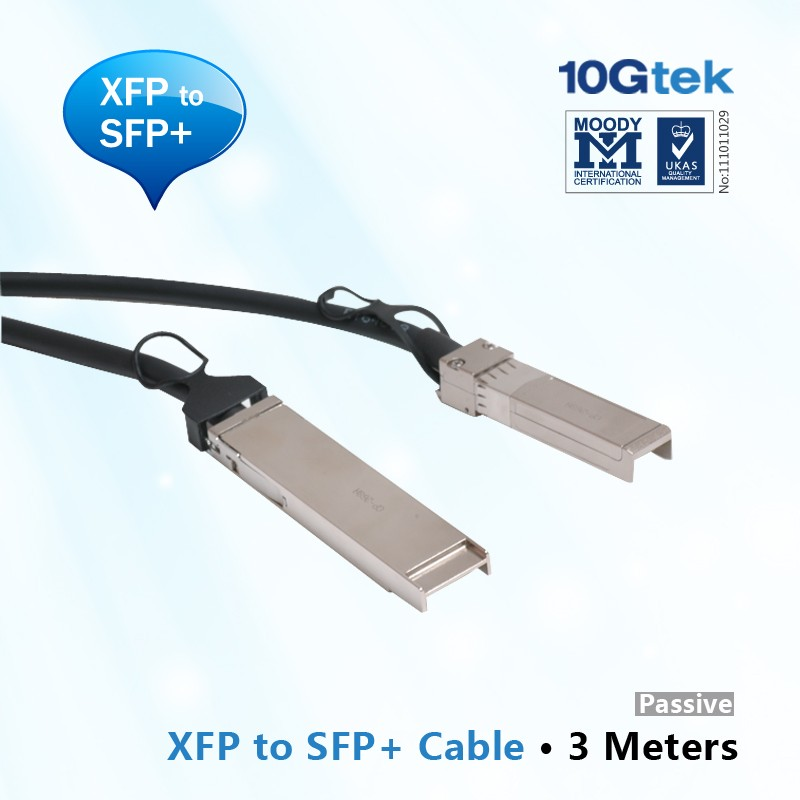 10GbE XFP to SFP+ Cable 3M, Passive