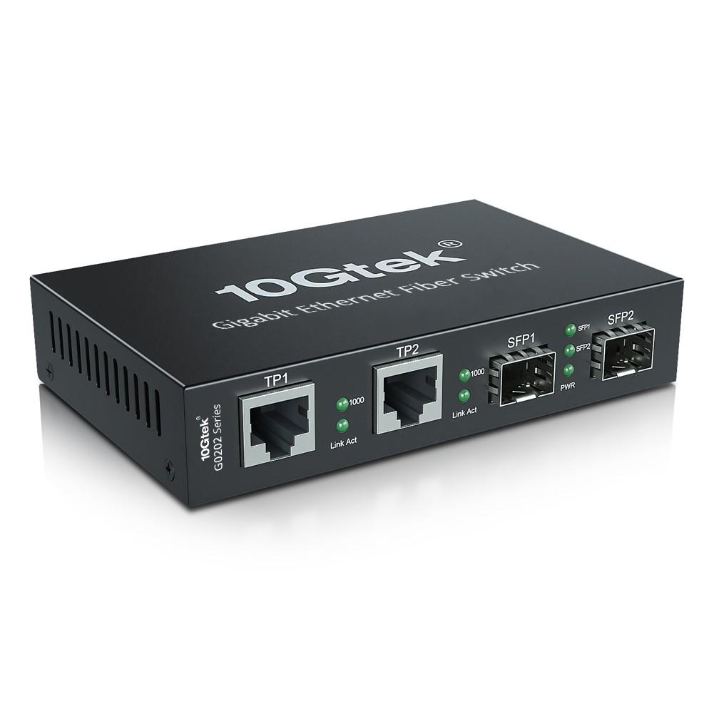 4-Port 1.25G Desktop Fiber Switch, with (2) SFP slots