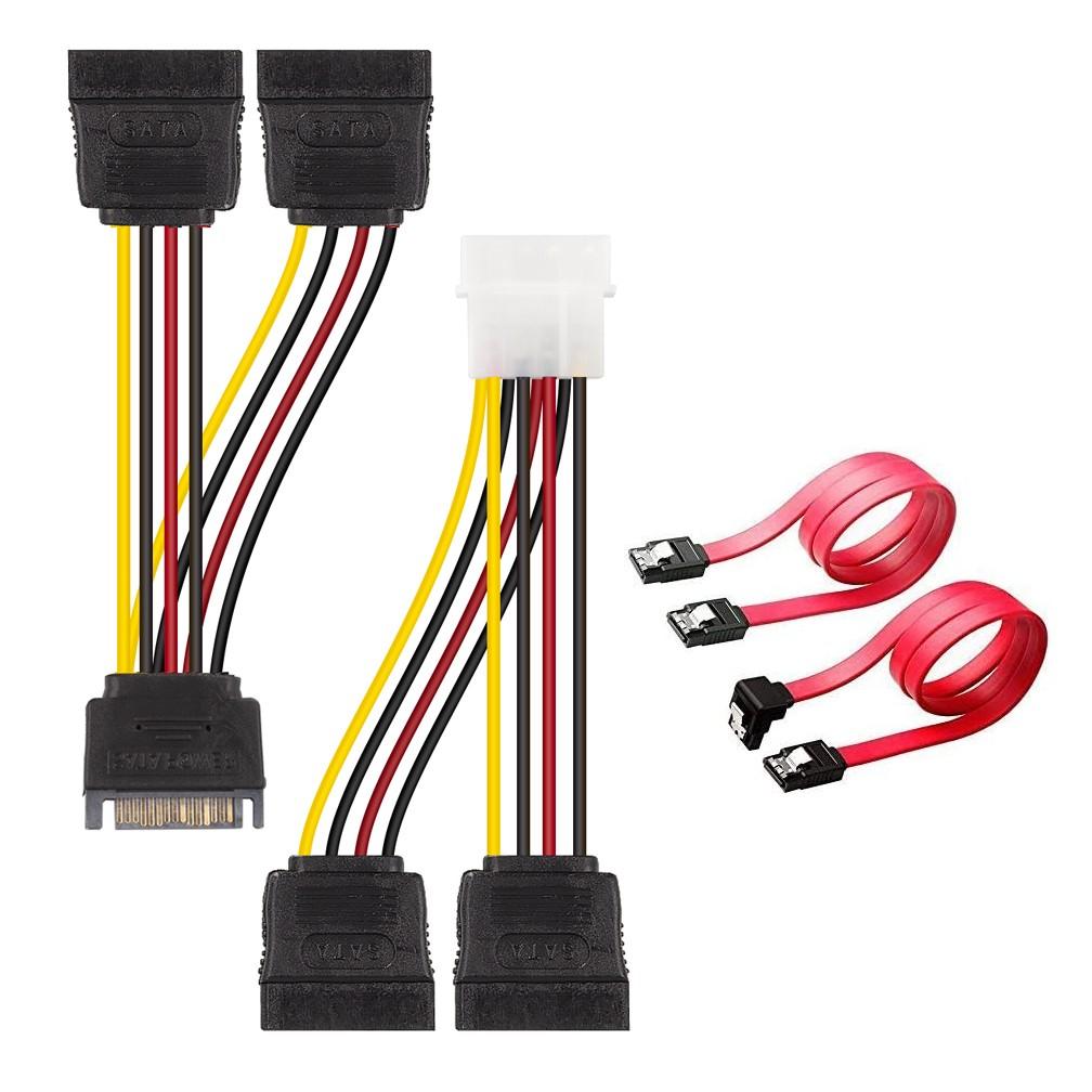 SATA Data Cable and 15Pin SATA Power Extender Cable kit