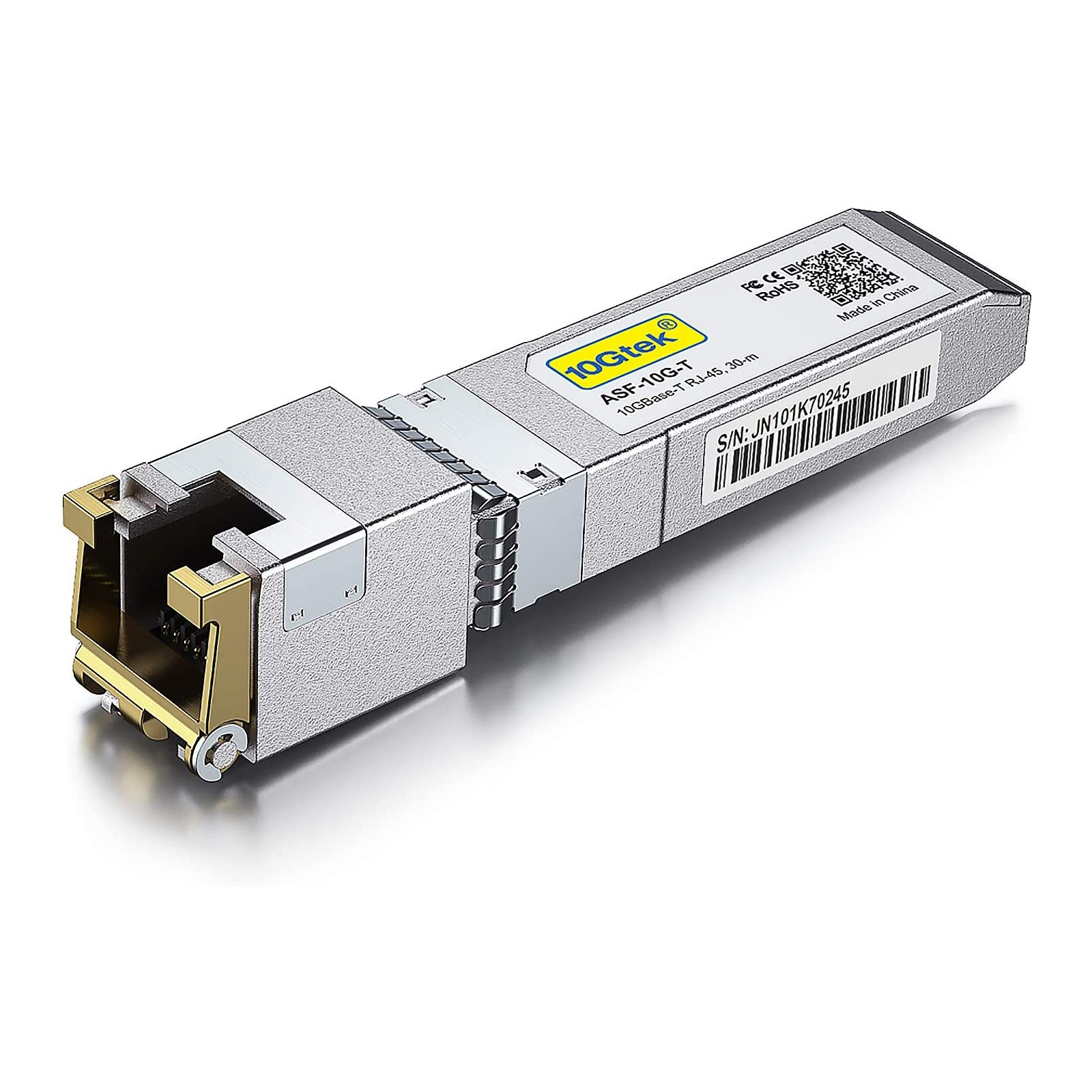 10GBase-T SFP+ Transceiver, 10G T, 10G Copper, RJ-45 SFP+ CAT.6a up to 30 meters Compatible for Edgecore/Accton *