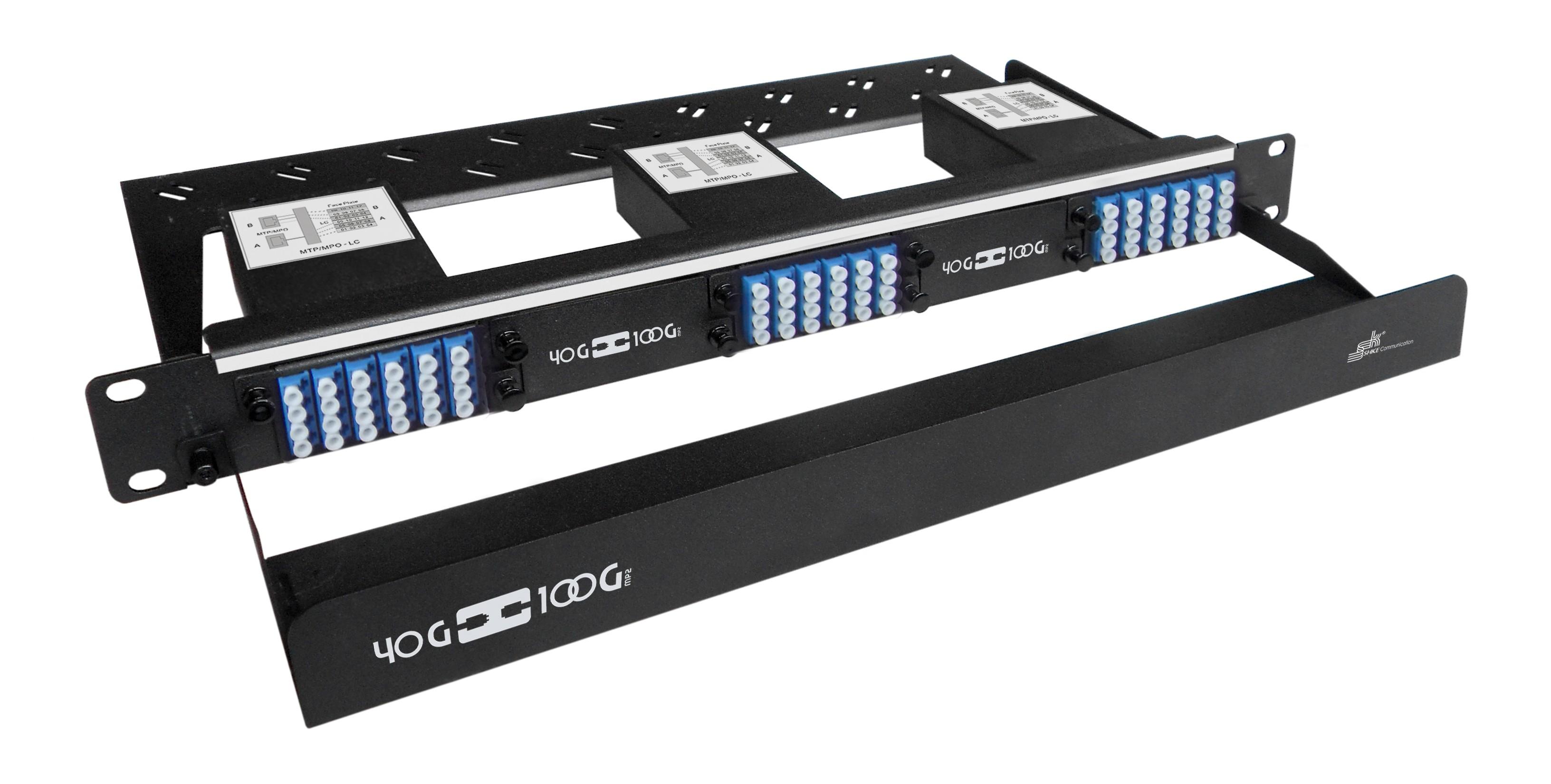 72 Core High Density MPO Fiber System, 1U, 6 ports MPO to 72 ports LC connectors, SMF