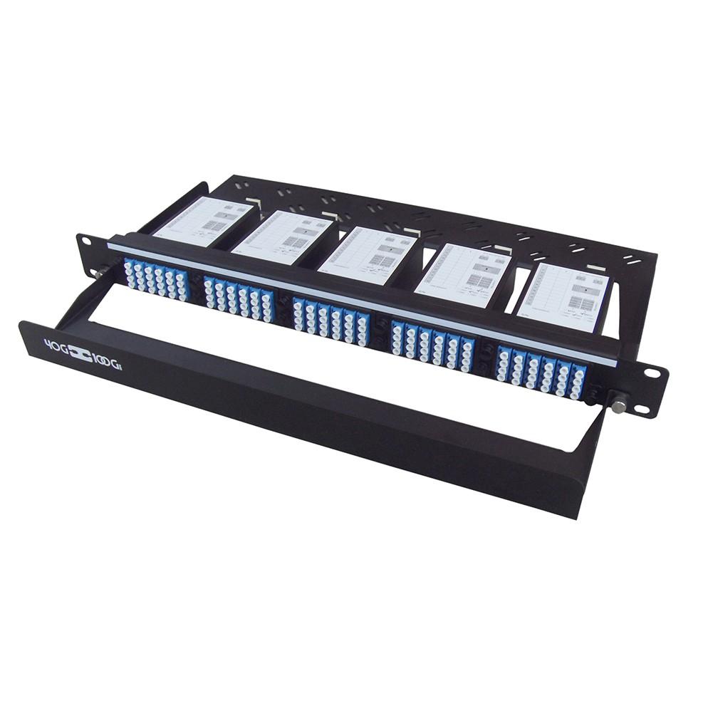 120 Core High Density MPO Fiber System, 1U, 10 ports MPO to 120 ports LC connectors, SMF