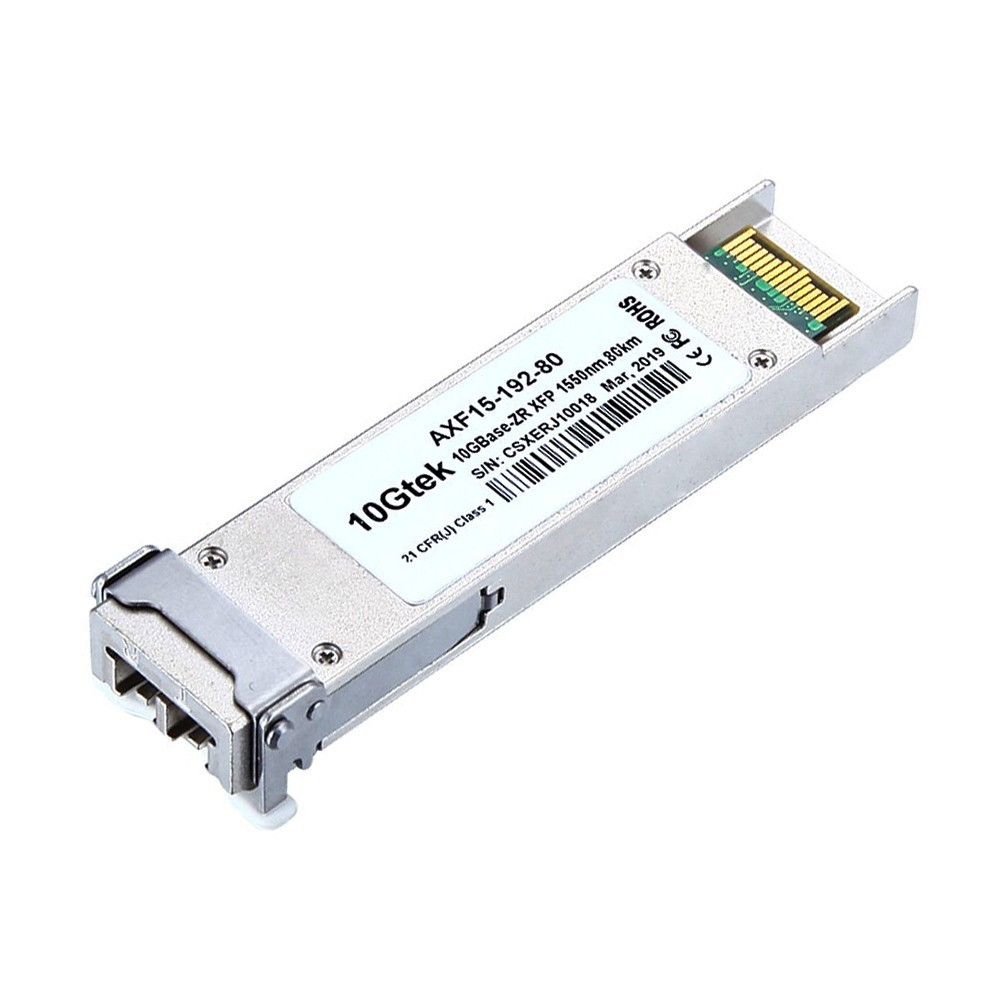 For Cisco, XFP-10GZR-OC192LR, Multirate 10GBASE-ZR/-ZW and OC-192/STM-64 lR-2 XFP Module for SMF