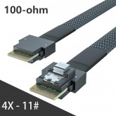 24G Internal SlimSAS SFF-8654 to SFF-8654 4i Cable, SAS 4.0, 100-ohm, 0.5~1 meter