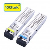 A Pair of 155M SFP BiDi Transceiver, 1310nm & 1550nm, 20km