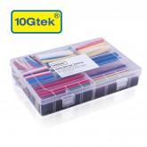 Heat Shrink Tubing, 385Pcs Kit (7 colors/9 sizes), Shrinkage Ratio 2:1