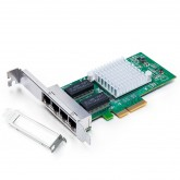 1.25G Network Card, Quad RJ45 port, X4 Lane, Intel I350-T4 equivalent