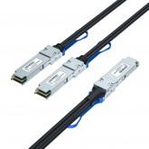 200G QSFP56 to 2x QSFP56 Breakout DAC, Passive, 1~3 meters