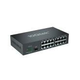 17-Port Fast Ethernet Switch, with 1 SFP slots (1000M), Unmanaged, without Transceiver