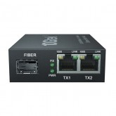 3-Port Gigabit Ethernet Switch, with 1 SFP slots (1000M), Unmanaged, without Transceiver