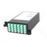24 Core MPO Box, 2 ports MPO to 2x 12 ports LC connectors, OM3, MMF