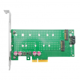 NVMe SSD Adapter Card for M.2, X4, (1) M.2(M Key) and (1) M.2(B Key) connectors