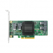 PCIe to NVMe Expansion Card for U.2 SSD (PEX 8724), X8, (4) SFF-8643