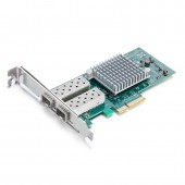 1.25G Network Card, Dual SFP port, X4 Lane, Intel I350-F2 equivalent
