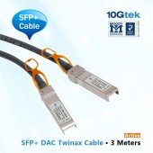 For Brocade, XBR-TWX-0301, 10 Gbps SFP+ direct-attached cables, 3 m Twinax copper Active cable