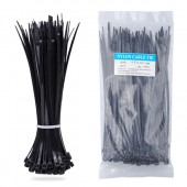 Nylon Zip Ties(100 pcs), 8 x 0.18 inch, Black, UL Certified