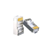 RJ45 CAT5e Shielded Crimp Connector, Gold Plated 8P8C 3μ Ethernet Network Cable Plug, 100Packs