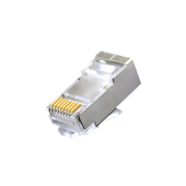 RJ45 CAT6 Shielded Crimp Connector, Gold Plated 8P8C 3μ Ethernet Network Cable Plug, 100Packs
