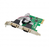 PCIe X1 to (2) RS-232 Serial Card