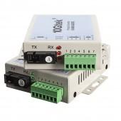 A Pair RS-485/422/232 to 155M Protocol Converter, SC Fiber 20-km