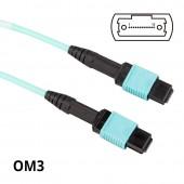 MPO to MPO, Multimode OM3 50/125μm, 8-Core, POLARITY B (for QSFP+/QSFP28 Transceiver)