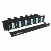 144 Core High Density MPO Fiber System, 2U, 12 ports MPO to 144 ports LC connectors, OM3, MMF