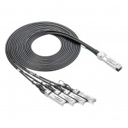 QSFP+ to 4 SFP+ Breakout Cable, Passive 0.5~5 meters