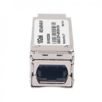 Brocade 40G-QSFP-eSR4, 40G QSFP+, MTP(MPO) 1X8 or 1X12ribbon connector, 300m transmission on OM3 MMF and 400m transmission on OM4 MMF 4