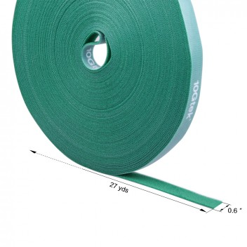 Self-Attaching Reusable Hook & Loop Fastening Tape, Double Side Cable Tie, L 27(25cm) yds, W 0.6''(1.45cm) #2