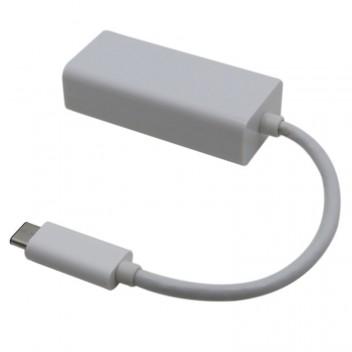 Type-C 3.1 to RJ45 Adapter, High speed Ethernet 10/ 100/ 1000M Gigabit, 23CM, White 2