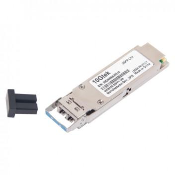 Brocade 40G-QSFP-LR4, 40G QSFP+, 1310 nm, duplex LC connector, up to 10 km transmission 4