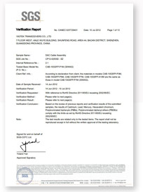 10GTEK CAB-QSFP ROHS certification